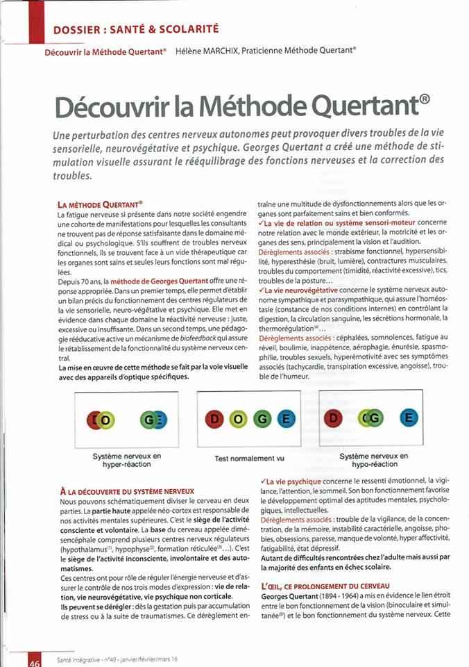 Santé Intégrative - Janvier Février Mars 2016 - n°49 page 1