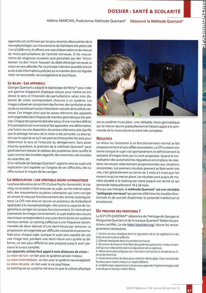 Santé Intégrative - Janvier Février Mars 2016 - n°49 page 2